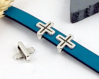 plate 5 spends leather Celtic Cross silver leather 10mm