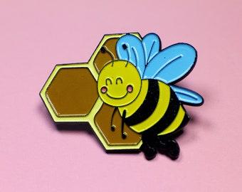 Busy Bee Cute Honeybee Enamel Pin