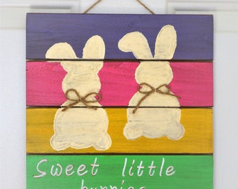Easter sign, Easter wood sign, Easter bunnies , Easter decor