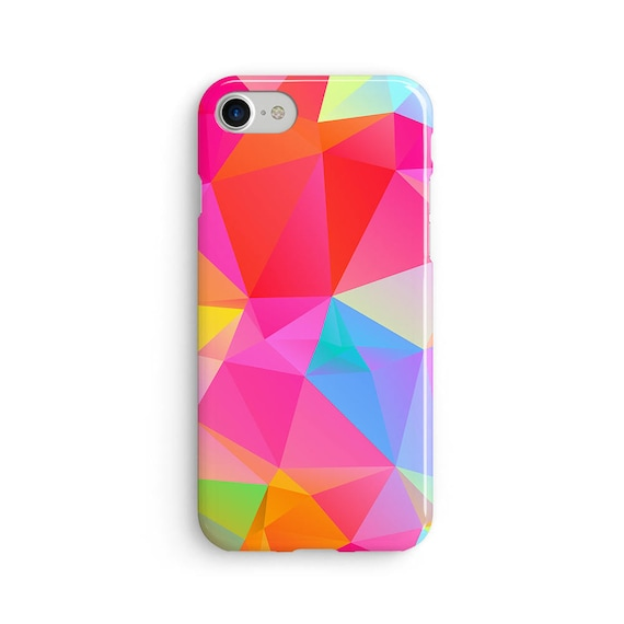 Geometric polygon pinks  iPhone X case - iPhone 8 case - Samsung Galaxy S8 case - iPhone 7 case - Tough case 1P016