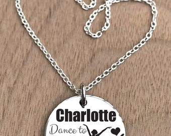 Dance Necklace, Ballerina Necklace, Ballet Necklace, Girls Dance Necklace, Dancer Necklace, Dancing Necklace, Ballet Girl Necklace, Gifts