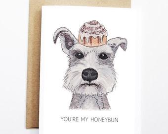 Cute Love Card - Schnauzer, Funny Love Card, Funny Card, Dog Card, Cute Dog Card, Cute Greeting Card, Anniversary Card, Funny Valentine