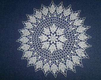 DOILY N 69 crocheted, cotton
