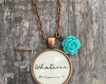 Handmade Glass Pendant Necklace