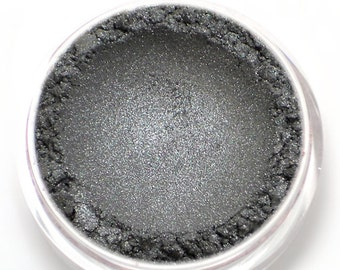 "Dark Silver Eyeshadow - ""Sylph"" - Vegan Mineral Eyeshadow Net Wt 2g Mineral Makeup Eye Color Pigment"