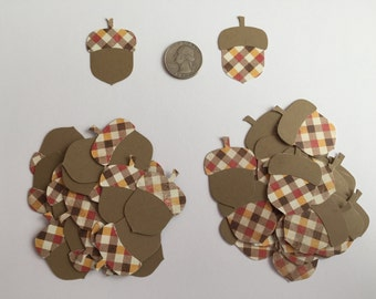50 Stampin' Up Acorns, Autumn, Fall, Scrapbooking, Card Making, Die Cuts
