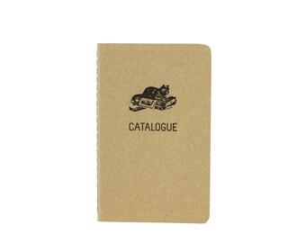 Catalogue Pocket Notebook / Cat Lovers Notebook / Letterpress Notebook / Moleskine Notebook / To Do List / List Notebook / Pocket Cahier