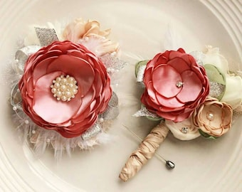 Bridesmaid prom homecoming boutonierre and corsage made to order in any color