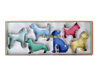 Cute Canine Cookie Cutter Set | Mini Dog Cookie Cutters | Meri Meri | Dog Party | Dog Birthday | Dog Cookies