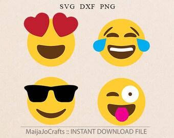 Emoji Svg, Emoji emotions Svg Files T- Shirt Designs Vinyl Files Cricut downloads Silhouette Cut Files, Funny vector file, PNG emoji clipart