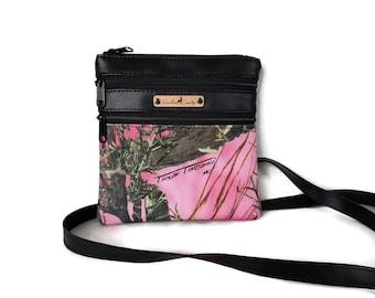 True Timber MC2 Pink Crossbody Bag -  Small Cross Body bag - Crossbody Purse - Pink Camouflage purse - Camo purse