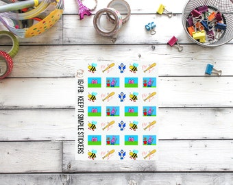 SMALL KeepItSimpleStickers Springtime Hand Drawn Planner Stickers