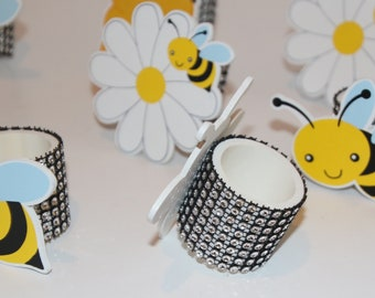 Bumble Bee Napkin Rings Set of 8