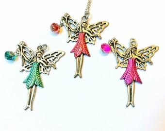 fairy necklace, fairie pendant, fey charm
