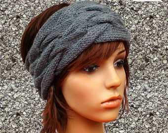 HEADBAND HAIRBAND Merino gray melange