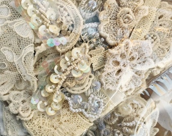 lace and sequin embellishment pack . wedding lace embellishment pack.