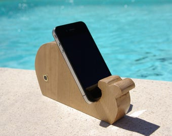 stand phone stand phone, iphone holder, desk Organizer, office magnet, magnet, ash wood