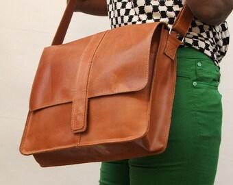 Large size Leather Messenger bag satchel bag laptop bag leather bag laptop hand bag shoulder bag over shoulder leather bag
