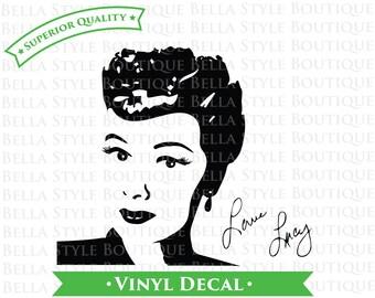 Lucy Lucille Ball I Love Lucy Desi Arnaz Ricky Ricardo VINYL DECAL