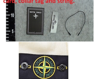 1 DAY SHIP Stone island Patch Set Top quality Embroidery Emblem Logo Badge Brand tag buttons rope collar tags patches