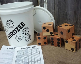 Yardzee - Yard Game - Reception Game - Wedding - Yard Yahtzee - Giant Yahtzee - Graduation Party