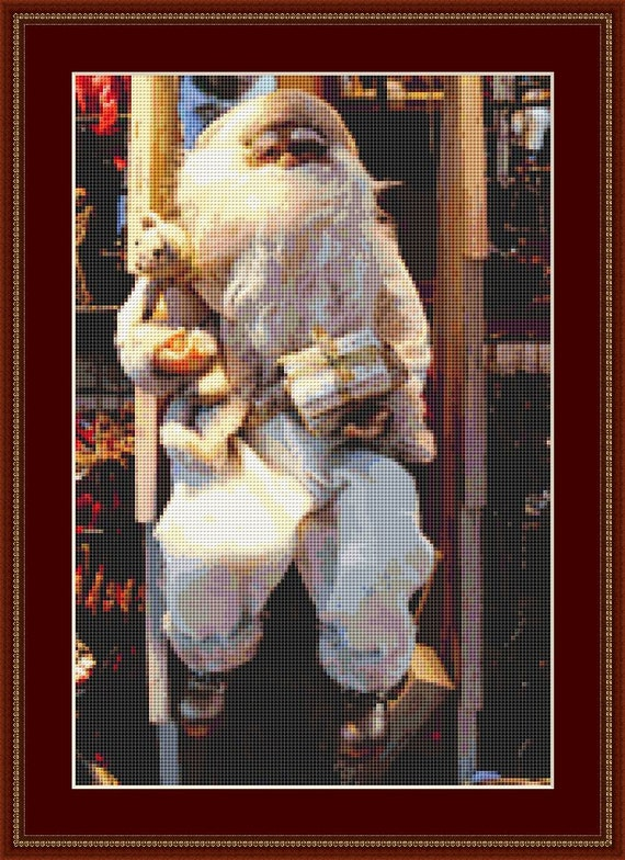 Santa Claus And Teddy Cross Stitch Pattern /Digital PDF Files /Instant downloadable