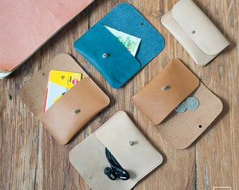 LYON / multiple accessories leather case / card leather case / coin leather case / earphone leather case / card leather pouch / coin pouch