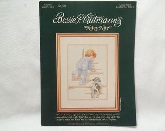 Little Boy Cross Stitch Leaflet Bessie P. Gutmann's  Nitey Nite