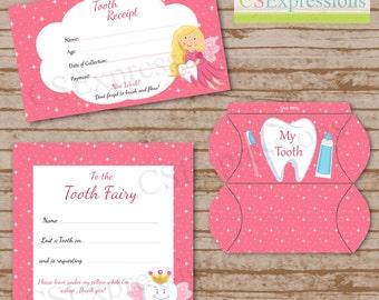 Printable Pink Tooth Fairy Kit