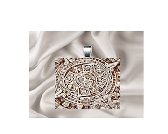 Pendant Necklace Mayan Art