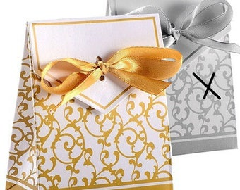 pretty 10 cardstock covers, decorative arabesque color Golden and 83 * 67 matching satin ribbon m