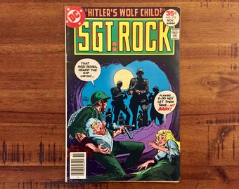 1977 Sgt. Rock #310 Comic Book / VF-FN / DC Comics / Series 1 / Military / Baby / Wolf / Children / Army / World War 2
