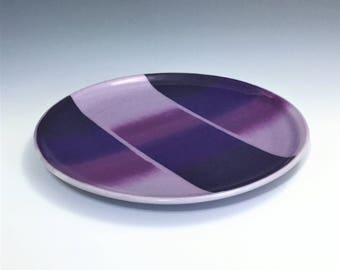 MADE-TO-ORDER, Purple Luncheon Plate, Porcelain Salad Plate, Purple Plate, Ceramic Salad Plate, Ceramic Dessert Dish, Ombre Pottery Plate