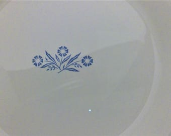 Two Cornflower Blue Corning Wear Nine Inch Pie Plates, Baking Dishes, Blue Cookware