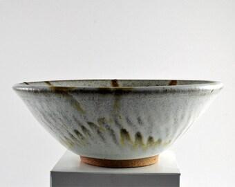 Stoneware Bowl Wheel Thrown Buttermilk