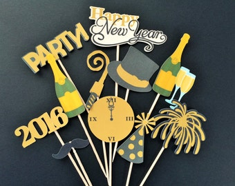 New Year's Eve cupcake toppers, New Year's Eve party, New Year's Eve cake toppers, New Year's Eve toppers,