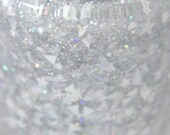 Snow Blind Silver Holographic White Glitter Nail Polish 5 free nail polish handmade indie nail polish vegan cruelty free nail polish