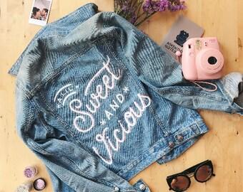 Custom Lettered Denim Jacket