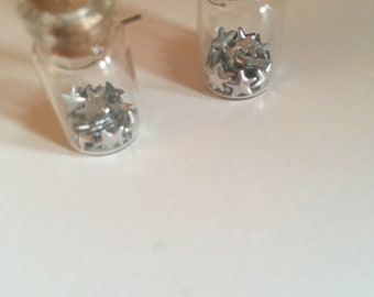 vials with stars earrings