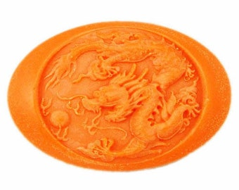 Dragon Oval Flexible Silicone Mold Silicone Mould Candy Mold Chocolate Mold Soap Mold Polymer Clay Mold Resin Mold R0691