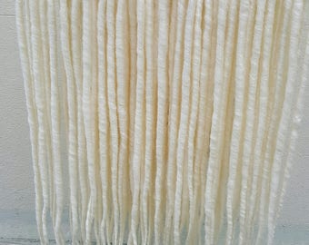 Ice White Dreadlock Extensions 10 x Double Ended Synthetic backcombed 20 inch long