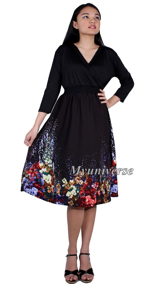 Casual Plus Size Dresses For Women Short Knee Length 34