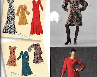 Simplicity 2801 DRESS Designer's Inspiration Evening Or Day Sewing Pattern UNCUT Size 6, 8, 10, 12 and 14