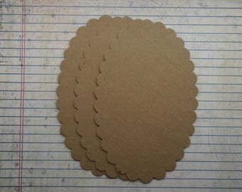 3 xl scalloped oval bare chipboard die cuts die cuts