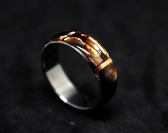 steel ring and copper
