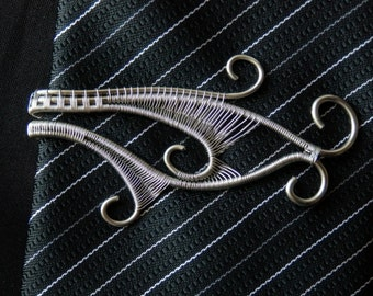 Wire Wrapped Stainless Steel Tie Clip
