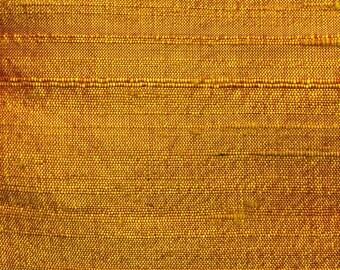 100% Silk  Dupioni Gold