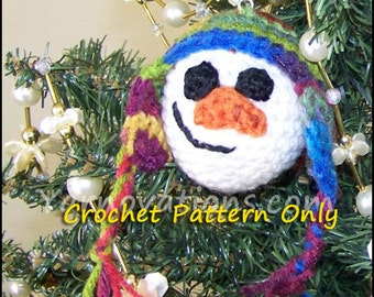 Snowman and Friends Christmas Ball Christmas Ornaments - Crochet Pattern