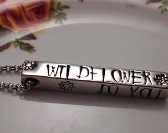 Alice in Wonderland Wildflower Necklace, Alice in Wonderland Jewelry, Alice Necklace, Sister Jewelry Necklaces, Jewellery for Teenagers,