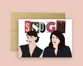 "My Favorite Murder ""SSDGM"" with Karen Kilgariff and Georgia Hardstark Murderino Greeting Card (Murderino Card, Podcast Merch)"